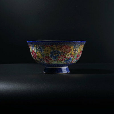 Exquisite Rare Old Chinese Enamel Bowl Marks QianLong AB003