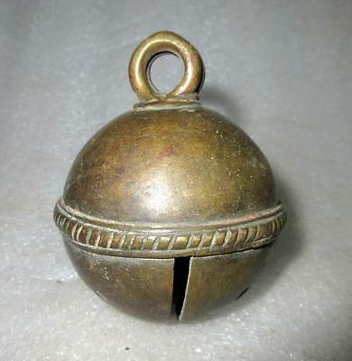 Antique Old Brass Hand Carved Tribal Traditional Animal Ornament Cow Camel Bell