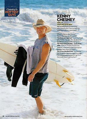 Kenny Chesney 1 Page 2011 Magazine Picture Clipping Surfing Country Music