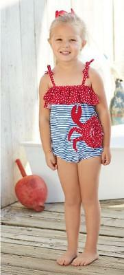 Mud Pie Girl's Toddler-Size Adorable Crab Swimsuit