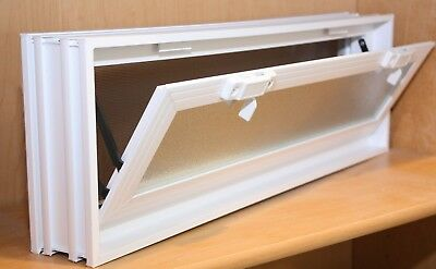 24x8x3 Vinyl, Thermal Pane, Glass Block Vent with Dual Insulated Glass Unit NEW