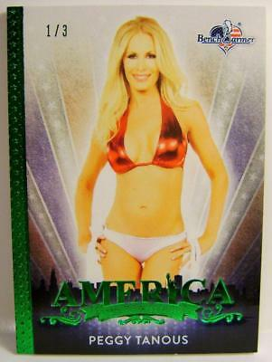 Peggy Tanous 1/3 Green Base Card America The Beautiful Bench Warmer 2017