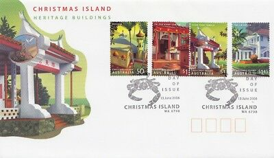 Christmas Island 2006  Fdc Heritage Buildings  Face Value 3.95