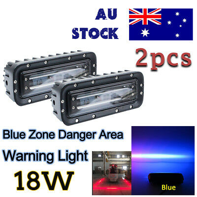 2x 18w LED blue Zone Danger Area Warning Light Forklift blue Zone for safety
