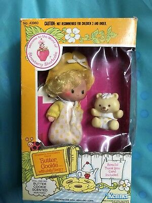 Vintage Strawberry Shortcake Butter Cookie and Jelly Bear New In Box