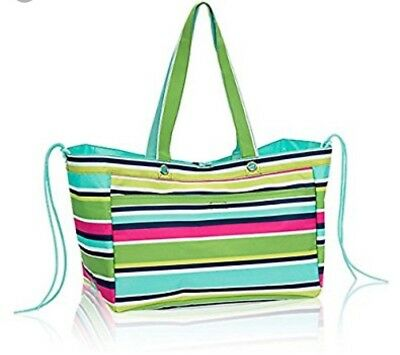 NEW Thirty-One Soft Utility Tote in preppy pop