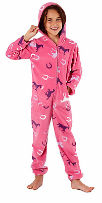Platinum Classic Childrens Fleece Jumpsuit Onesey - Cerise Pink