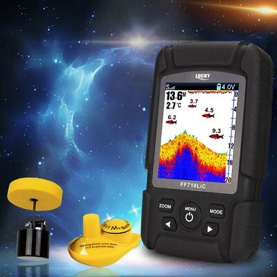 Portable Wireless+Wired 2 In One Waterproof Fish Finder Monitor FF718LIC S FG