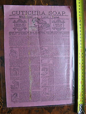 Cuticura Soap & Ointment Pamphlet