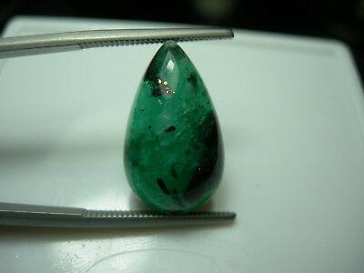 9.03ct Colombian Emerald gemmy Cab Natural Muso Colombia Green Gemstone Muzo