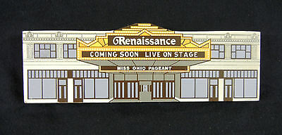 Renaissance Theater in Mansfield Ohio 1992 Limited Ed. Miniature 2-D Block House