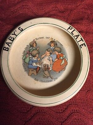 Antique Baby Plate/bowl/dish  Little Jack Horner/? Roseville