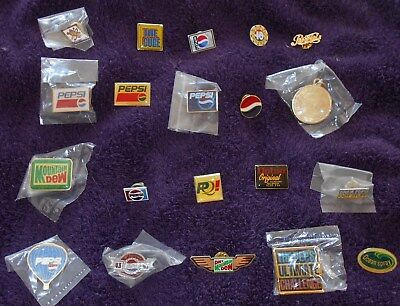 Price Drop! 20 Pepsi Cola Lapel Pins Pinbacks All R New Condition Xmas Is Coming