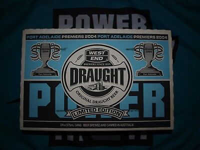 West End Draught Port Adelaide Premiership cans (full carton)