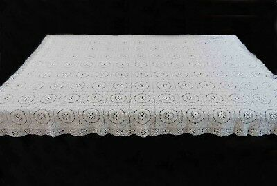 Vintage Lace Tablecloth - Square, White