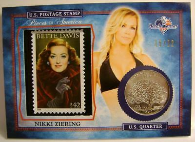 Nikki Ziering Playboy 15/22 Stamp Quarter America The Beautiful Bench Warmer