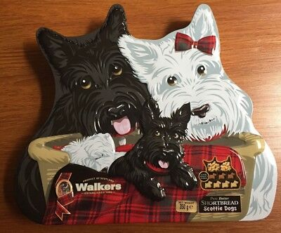 Collectable SAINSBURY SCOTTIE DOGS Walkers Pure Butter Shortbread 350g Tin