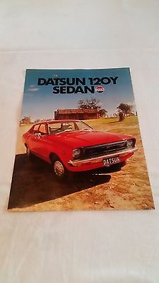 Datsun 120Y Sedan Brochure Pamphlet 1976 Nissan Genuine