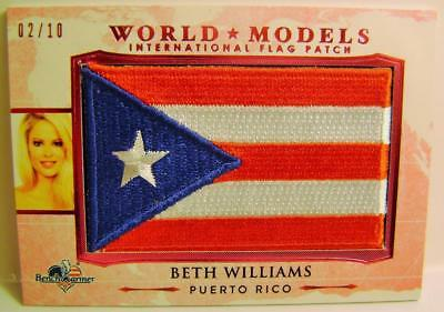 Beth Williams Puerto Ric0 Flag Patch 2/20 America The Beautiful Bench Warmer