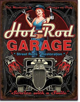 Hot Rod Garage Street Rods Restoration Tin Sign Garage Shed Ratrod Custom Ford