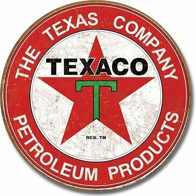 Texaco Round Tin Sign New Garage Shed Texas Company Petrol