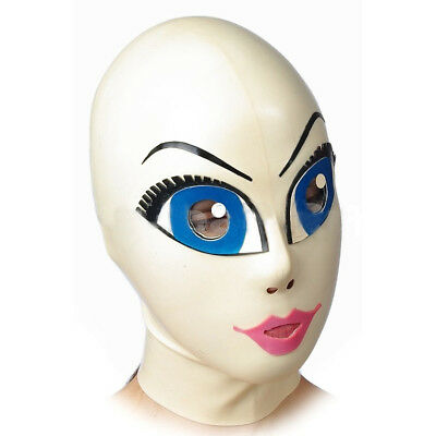 Sexual gummy rubber latex mask hood Anime (optional color and size)