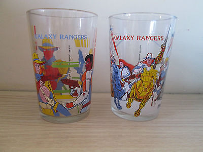 lot verre à moutarde GALAXY RANGERS 1988 Gaylord Prod - Transcom Media - ITF Ent