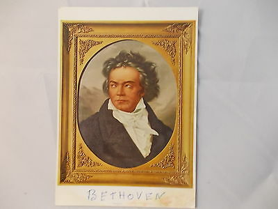 Post Card Picture of Beethoven Germany Beethoven Haus Bonn Stamp Vintage