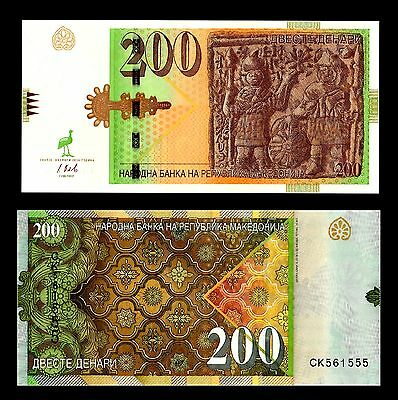 Mazedonien Macedonia 200 Denari 2016 UNC BANKNOTE CURRENCY