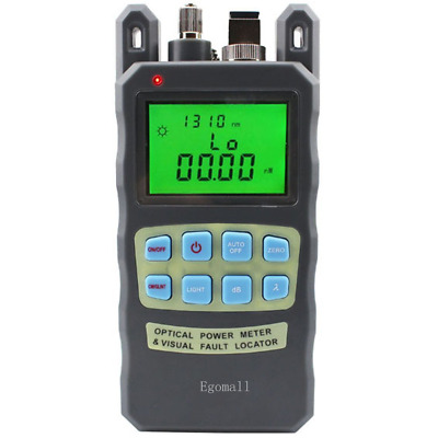 Egomall Fiber Optic Cable Tester -70 to +10dbm and 1mw 3.1mi Portable Optical Po