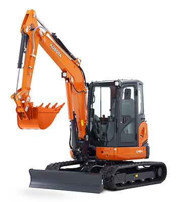 5.0 Tonne Kubota U48-4 Excavator Hire $395 a Day - Delivery Available