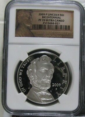 2009-P Lincoln Bicentennial Silver Proof Ngc Pf70 Ultra Cameo Special Label
