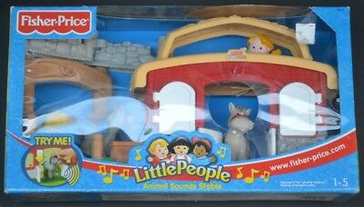 Fisher Price Little People Animal Sounds Stable BNIB collectible WILL POST