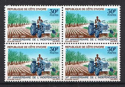 Ivory Coast 1966 Anniversary of Independence - Agriculture - MNH block - (396)