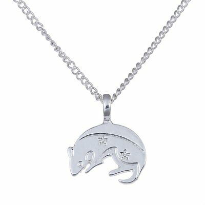 Chinese Zodiac 925 Sterling Silver Animal Pendant Necklace Jewelry Gift