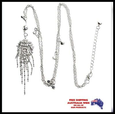 Navel Belly Ring Crystal Tassell Slave Waist Chain Body Piercing Jewellery Gift