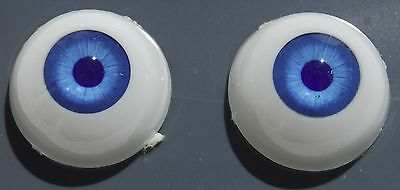 GLASTIC Realistic DOLL EYES - 18 mm - BLUE / GRAY - NOS 18mm