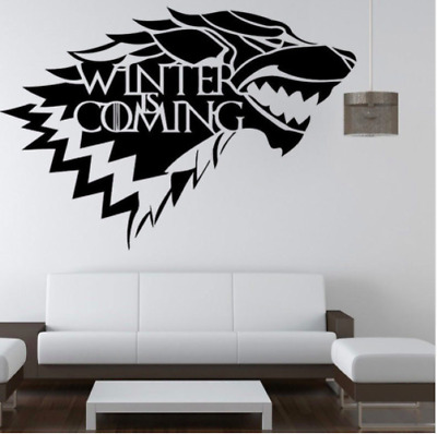 Game Of Thrones House Stark Winter Is Coming 4 Piece Wall Sticker/Poster