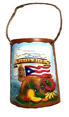 "8"" Inch Puerto Rico Home Decorative Souvenirs Tile Shingle Wall Rican PR FRUITS"