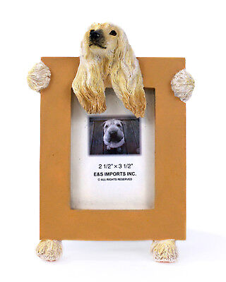 "E&S Imports Afghan Hound 2 1/2"" x 3 1/2"" Picture Frame Cute Stand Dog Lover Gift"