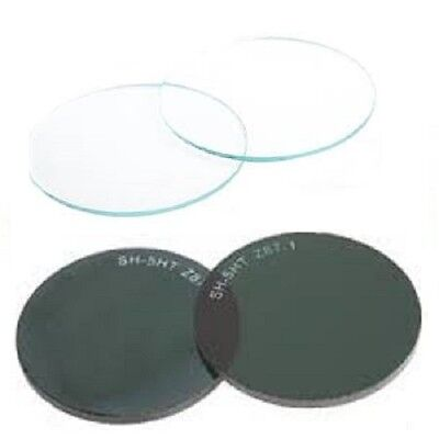 """X1 Pair Round / Glass Welding Lenses /Shaded or Clear / Size 2"""" Diameter (50mm)"""