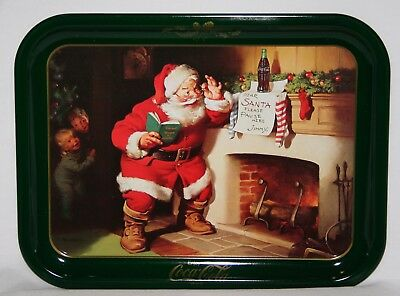Vtg. Dear Santa Coca Cola Christmas tin try (mint) Still with packing paper