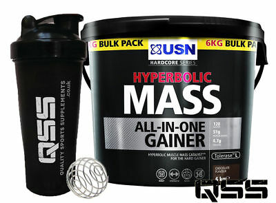 Usn Hyperbolic Mass 6Kg Weight Muscle Gainer Builder