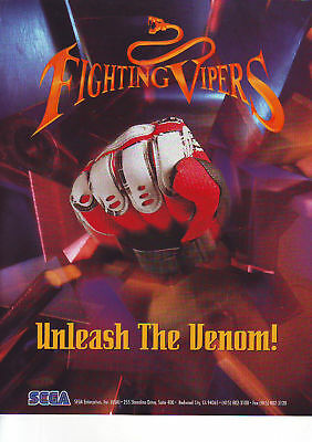 FIGHTING VIPERS By SEGA 1995 ORIGINAL NOS VIDEO ARCADE GAME FLYER BROCHURE