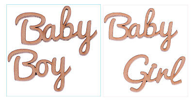 mdf baby boy baby girl words family tree crafting blank script words