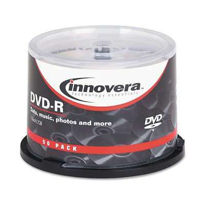 Innovera® DVD-R Discs, 4.7GB, 16x, Spindle, Silver, 50/Pack 686024468509