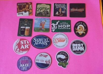 Beer coasters, lot of 15 different. (group 15R)