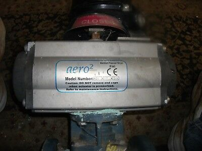 """Aero2 Pneumatic Actuator with 2"""" Valve and Feedback Switches"""