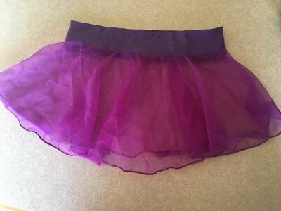 Purple CHIFFON Toddler Dance Skirt Ballet  Body Movements USA Spandex