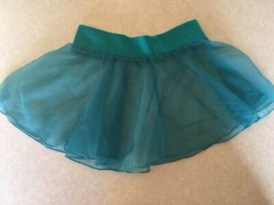 Teal CHIFFON Toddler Dance Skirt Ballet  Body Movements USA Spandex